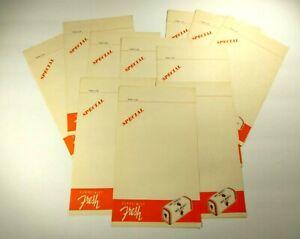 11 Mrs. Baird's Bread Vintage paper Forms H - 58 Advertising Order Orange Unused