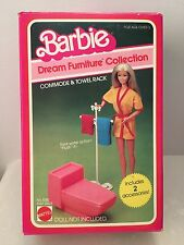 MIB Barbie Dream Furniture Collection Commode & Towel Rack No 1045 Year 1982