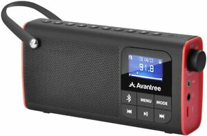 Avantree SP850 Portable FM Radio with Bluetooth Speaker and SD Card Player 3-In-