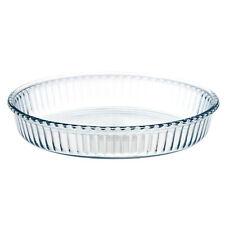Borcam Clear Glass 26cm Tart Pie Oven Food Baking Roasting Dish Tray Ovenware