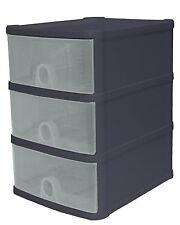 Wham® A5 Size Desktop 3 Drawer Tower Plastic Stackable Modular System-16180
