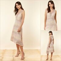 Wallis Fit And Flare Dress Size 14 | Blush Lace | BNWT | £66 RRP | New!