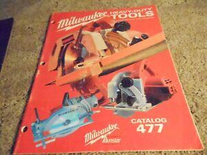 Milwaukee Heavy Duty Tools Catalog 477