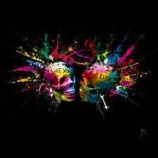PATRICE murciano: Eterna Lovers Imagen TERMINADA 70x70 Mural de colores moderno