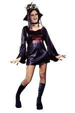 Blood Sucker Teen Vampiress Collar Costume Mini Dress Gothic Trim Neckline