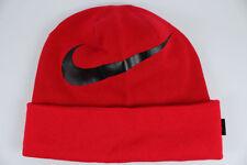 Nike Swoosh Cuffed Dri-fit Beanie Red Knit Hat Cap Adult Winter