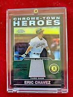 2004 Topps Chrome-Town Heroes Eric Chavez Game Worn Jersey Card  #CHR-EC