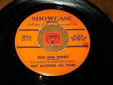 MAT MATHEWS ALL STARS - MILK AND HONEY - SHALOM/ LISTEN - EASY LISTENING POPCORN