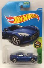 Hot Wheels Aston Martin One-77 Blue HW Exotics 7/10 M Case Die Cast Car
