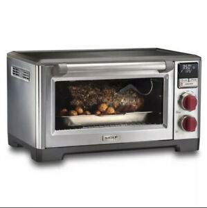 Wolf WGCO100S Countertop Oven with Convection - Red Knob