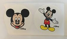 Vintage Classic Disney Mickey Mouse Round Stickers Lot of 8