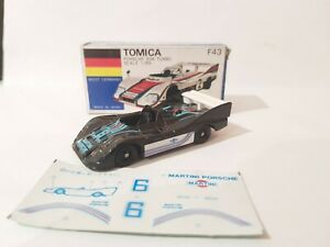 Tomica F43 - PORSCHE 936 TURBO [BLACK] VHTF ABSOLUTELY  MINT MADE IN JAPAN