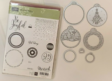 Stampin Up retired, MERRIEST WISHES stamps & MERRY TAGS Framelit Dies Christmas