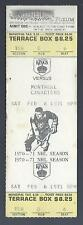 1970-71 NHL MONTREAL CANADIENS @ LOS ANGELES KINGS FULL UNUSED HOCKEY TICKET