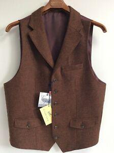 Mens Gurteen All Wool waistcoat  - Spice  - many sizes- BNWT