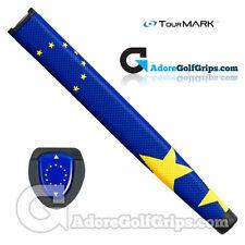 TourMARK European Flag Jumbo Pistol Putter Grip - Blue / Yellow + Free Tape