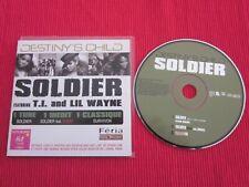 CD SINGLE DESTINY'S CHILD SOLDIER SURVIVOR 2004