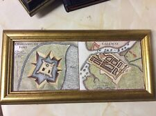 Map of Galway and Charlemount fort 1730 reproduction canvas map , framed.   Appr