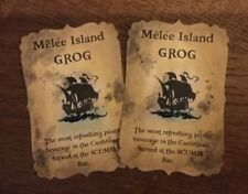 Handmade 'Melee Island Grog' Monkey Island Halloween Bottle Stickers - Set of 8