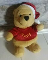 Exclusive Walt Disney Winnie The Pooh Plush Toy With Christmas Hat