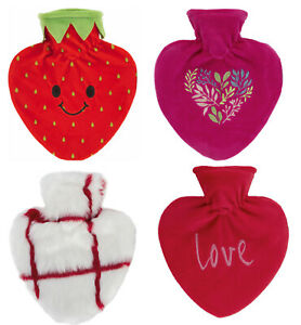 Fashy Heart 0.7L Hot Water Bottle With Cover