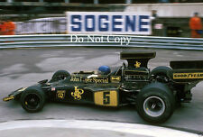 RONNIE PETERSON JPS LOTUS 72E MONACO GRAND PRIX 1975 FOTOGRAFIA 1