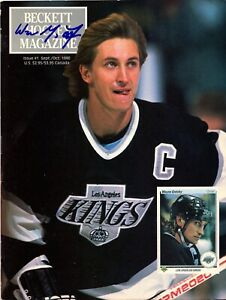 WAYNE GRETZKY AUTOGRAPHED Hand SIGNED 1990 Beckett Hockey MAGAZINE KINGS w/COA