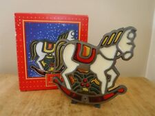 Rocking Horse Stained Glass Votive - Home for the Holidays