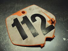 2002 02 KTM 65SX 65 SX MINI MOTORCYCLE BODY PLASTIC NUMBER PLATE