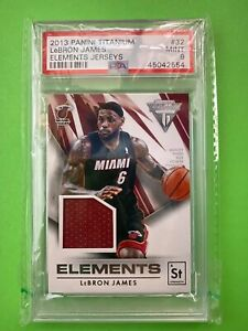 2013-14 Panini Titanium Elements Jersey PSA 9 Basketball Card *Population 1*