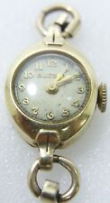 Ladies Vintage Bulova 14K Yellow SOLID GOLD 17 Jewels Swiss Watch -Free Shipping