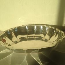 Chippendale silver plate large nut dish 6385