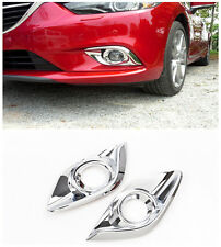 For Mazda 6 Atenza 2013-2015 ABS Chrome Glossy Front Fog Lamp Light Cover Trims