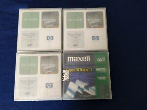 Lot de 3 cartouche de données HP Super DLTtape I  220/320gb + 1 Maxell 160/320gb