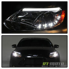 2012-2014 Ford Focus Projector Headlights w/Daytime DRL Led Running Lights