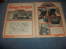 "1964 Volkswagen Bug Vintage Article ""Stage Fright"" 396 Chevy Power"