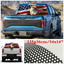 135x36cm USA Flag Eagle Rear Window Graphic Decal Tint Sticker For Car Truck SUV