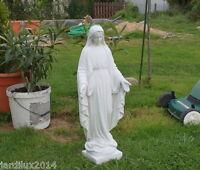 Statue Notre Dame de la Médaille, vierge Marie en pierre reconstituée