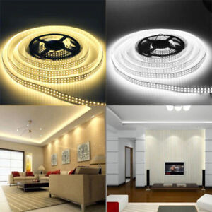 300LED 5M 3528 SMD Strip Bande Ruban Flexible Lampe Blanc Lumiere Noël 12V DC