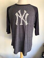 NEW YORK YANKEES Official Retro Distressed Long Sleeve Raglan T-Shirt XL/2XL