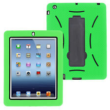 Green Hybrid Case Rugged Shockproof Full Cover Body Skin For Apple iPad 2 3 4