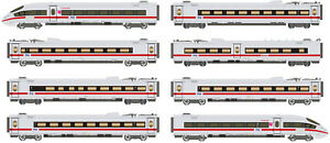 ICE  Arnold  8-unit highspeed EMU, ICE 3 class 406, light grey livery, period V