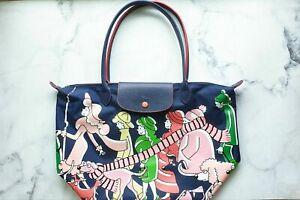 Longchamp  Clo'eFloirat Women's Limited Edition  Nylon Handbag  Navy