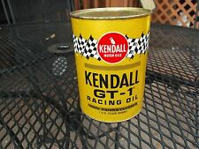 Vintage Kendall GT-1 Racing Motor Oil Can  NICE!
