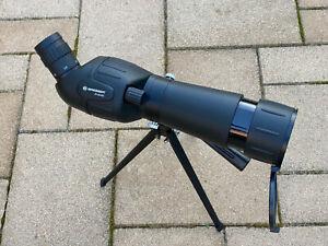 Bresser Spektiv Spotty 20-60x60 mit stufenloser Zoomfunktion, mit Tischstativ.