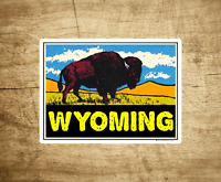 "Wyoming Buffalo Sticker Decal 3.9"" x 3"" Yellowstone National Park Bison"