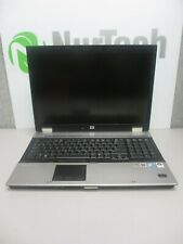 "HP EliteBook 8730w 17"" C2D 2.8GHz 4GB/160GB Webcam Linux Laptop ""NO BATTERY"" +AC"