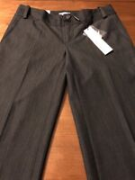 Calvin Klein Women's Pants Favorite Fit Charcoal Pants Stretch Size 2 X 31 NWT