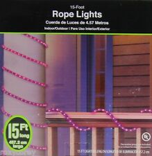 Halloween 15 ft Purple Rope Lights Indoor/Outdoor NIB