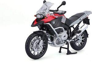 Maisto 31157 - Modèle de Moto - BMW R1200GS (Noir-Rouge, Maßstab 1:12) Moto